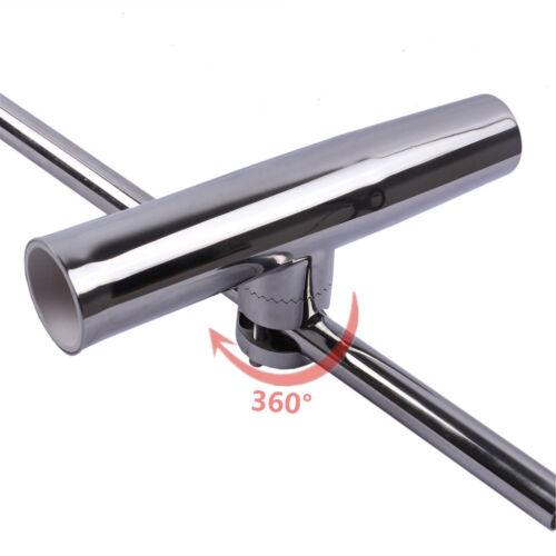 "4X Stainless Steel Fishing Rod Holder Clamp On Rod Holder For Rail 7//8/""-1/"""