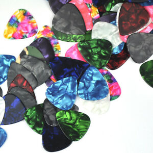 Lots-of-100pcs-Heavy-0-96mm-Celluloid-Guitar-Picks-Plectrums-Assorted-Colors-New