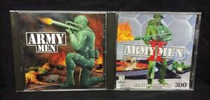 PC-CD-ROM-Army-Men-1-2-Jewel-Case-Windows-PC-Game-Lot-Tested-Working