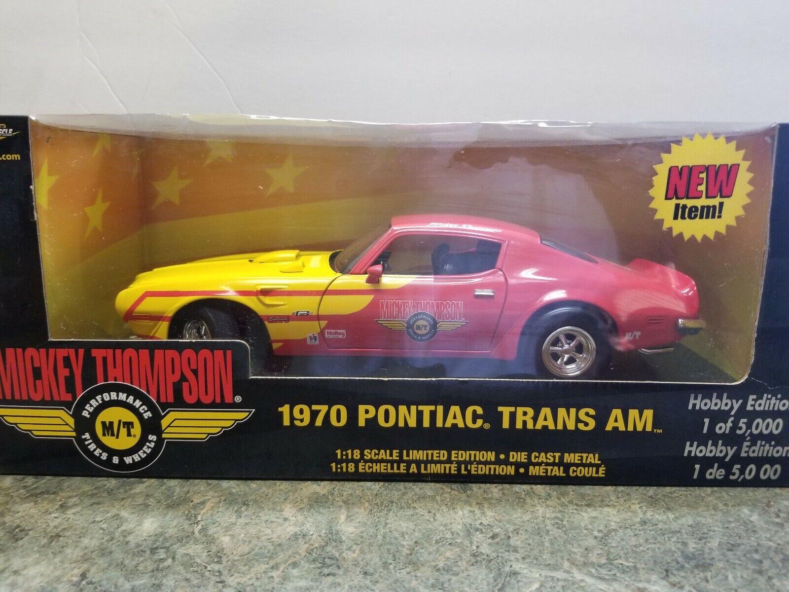 precios al por mayor 1 18 Ertl American Muscle'70 Mickey Thompson Pontiac Trans Trans Trans Am  El nuevo outlet de marcas online.