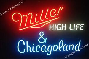 17x14 miller high life chicago land beer bar real neon light 17 034 x14 034 miller high life amp aloadofball Choice Image