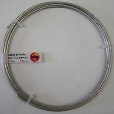 Nichrome 80 resistance wire, 8 AWG (gauge), 10 feet