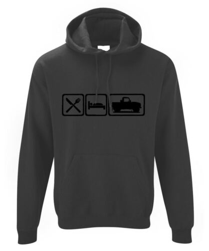 Homme Eat Sleep Land Rover Defender 90 PickUp Sweat à capuche Hoody Ninety Road Land Rover