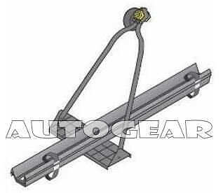 GS TUV Approved Roof Bar Top Fix Single Cycle Carrier