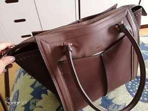 MIMCO-Leather-Handbag-Brown