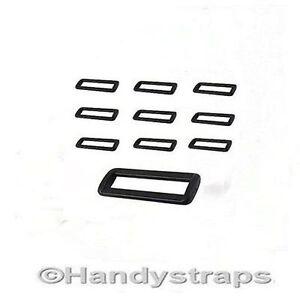 2 bar Loop Buckles 10  x 50mm Plastic Black Handy Straps