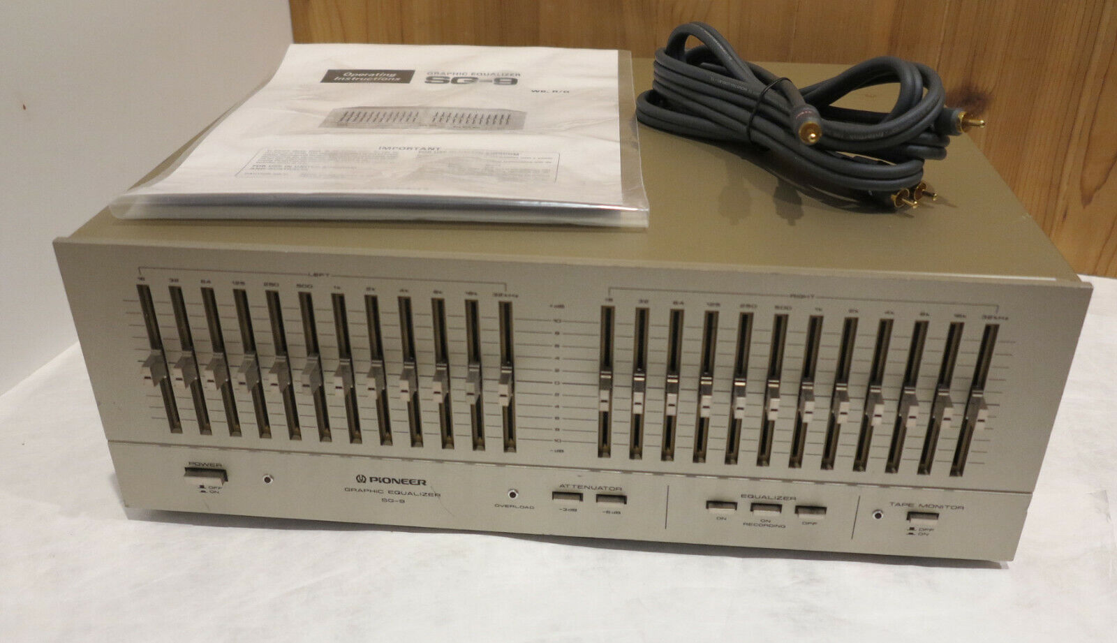 Rebuilt Vintage Audiophile Pioneer SG-9 12 Band Stereo Graphic Equalizer. Buy it now for 625.00