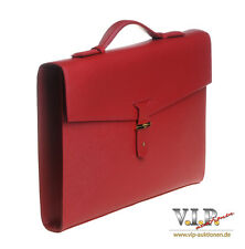 S.T.DUPONT CONTRASTE LEDER TASCHE AKTENTASCHE LAPTOP BAG BRIEFCASE CASE CARTELLA