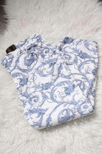 Authentic FENDI Vintage Pattern Capris Pants Blue