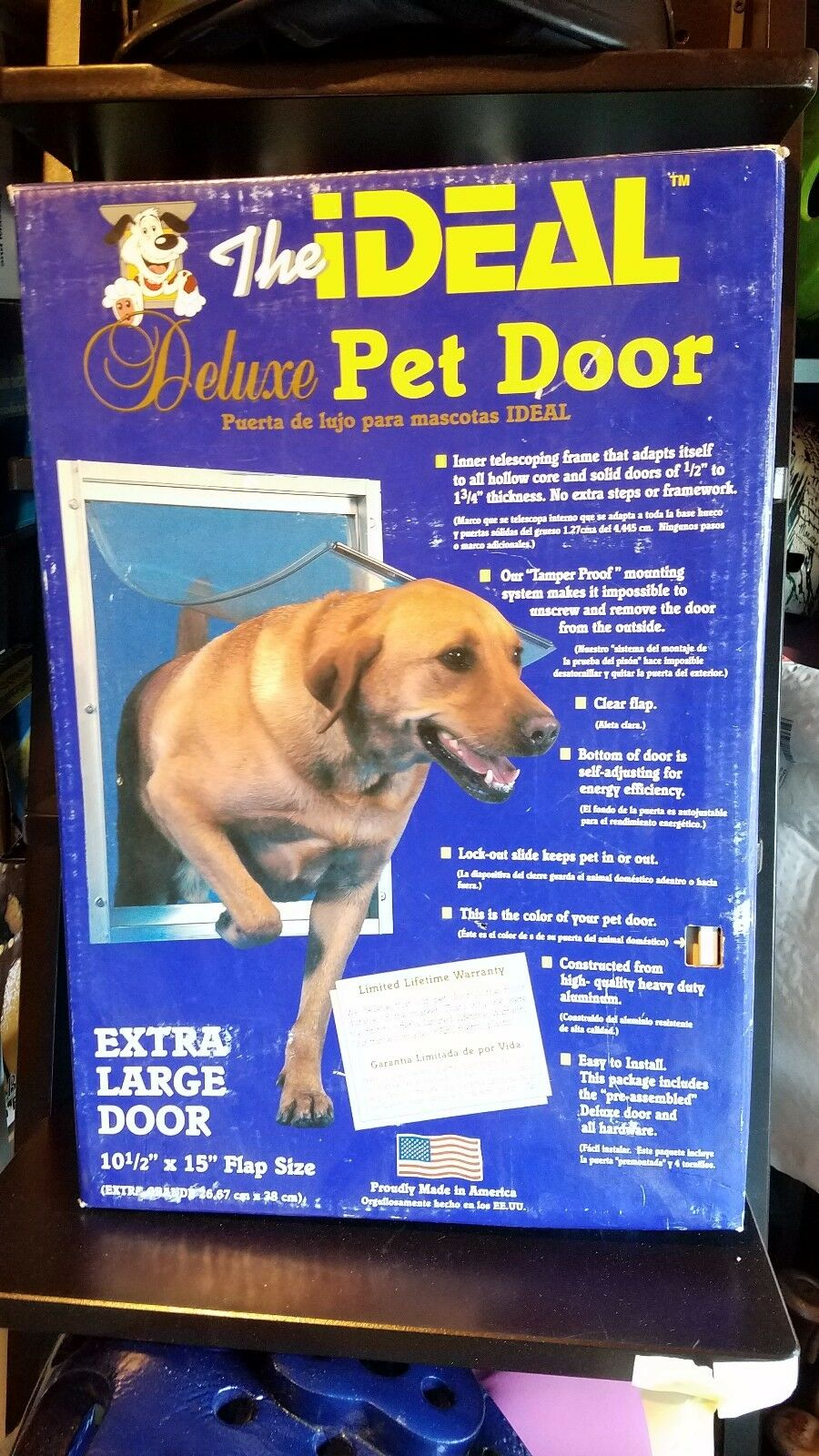 The Ideal Ideal Ideal Deluxe Pet Door Extra Large Door 10.5 in. x 15 in. High Quality 9e0db3