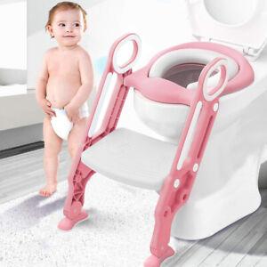 Toilettentrainer Mit Treppe Kinder Lerntöpfchen Baby Toilettensitz WC-Sitz DE