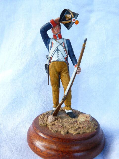 Soldat de de plomb 90mm - Fusilier d'infanterie de Soldat ligne tenue de campagne 1804 90ad5a
