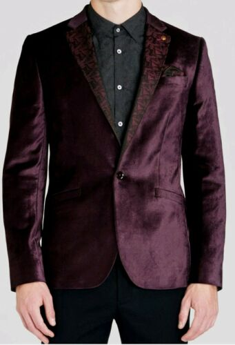 Ted Baker London Paisley Lapel Velvet Blazer Ted 7