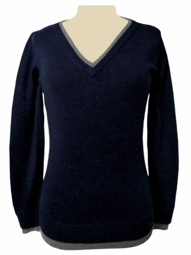 TCM Tchibo Damen Pullover Strickpullover Pulli V-Ausschnitt Langarm Wollpullover