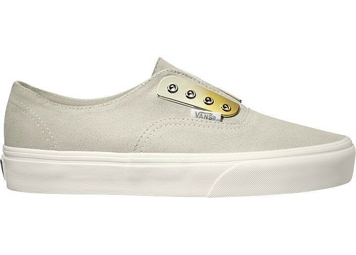 Vans cortos Slipper skater zapato blanco authentic gore me antelina