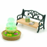 Sylvanian Families Ornate Garden Bench And Fountain