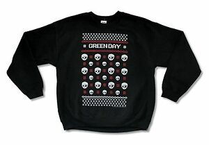 Green Day Christmas Sweater.Details About Green Day Xmas Christmas Ugly Sweater Crew Neck Sweatshirt New Official