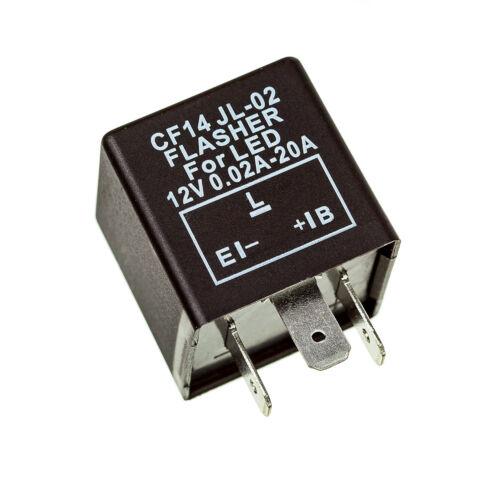 Fix Flash Rate Turn Signal Flasher Relay LED Indicator Bulbs 3 PIN CF14 JL-02