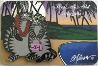 Kliban Cat Just Married Honeymoon 2d Magnet Hawaii Hawaiian Beach Palm Trees