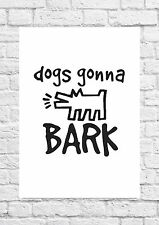 Dogs Gonna Bark - The Janoskians Music Poster Art - A4 Size