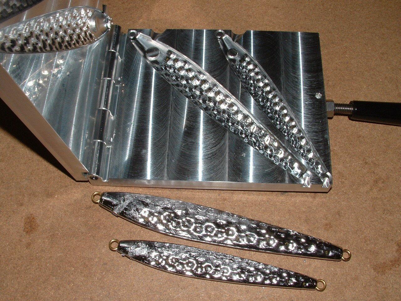 Molde De Agua Salada Peces Jig llenos de baches 8, 16oz CNC Aluminio