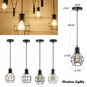Details About Modern Ceiling Cage Pendant Light Vintage Lamp Shade Chandelier Uk