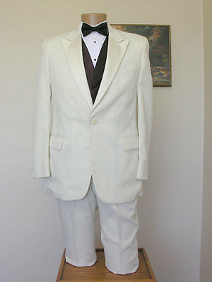 Ivory Roget peak coat and pants tuxedo jacket steampunk formal