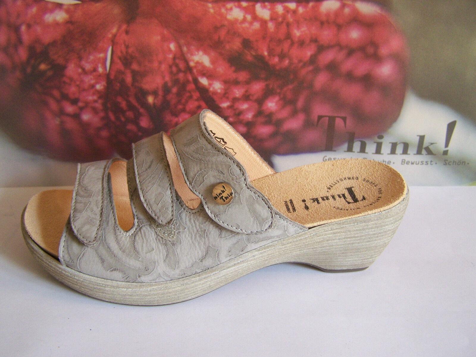 Think  shoes Model Cosima Aluminium Effect Spring Summer + think Bag