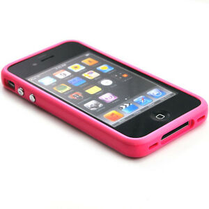 Brand-New-Pink-Bumper-Case-For-Apple-iPhone-4-Only