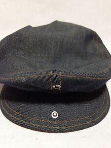 Vintage 70s LEVI S Orange Tab Blue Denim Jean Newsboy Snap Hat Cap ... 00f385b511c