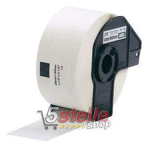 ROTOLO-ETICHETTE-ADESIVE-BROTHER-DK-11208-38mm-x-90mm-CON-SUPPORTO-INCLUSO
