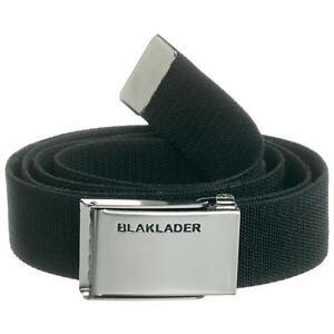 Blaklaeder-Guertel-elastisch-4004-in-schwarz-mit-silberner-Metallschnaller