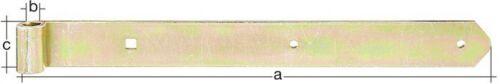 Halterungen verzinkt in versch Größen GAH Ladenband Ladenbänder /& Kloben