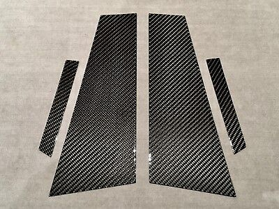 4PCS W219 CARBON FIBER PILLAR PANELS FOR BENZ 04-10 CLS500 CLS350 CLS55 CLS63