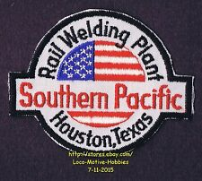LMH PATCH Badge SOUTHERN PACIFIC Railroad SP Lines RAIL WELDING PLANT Houston TX