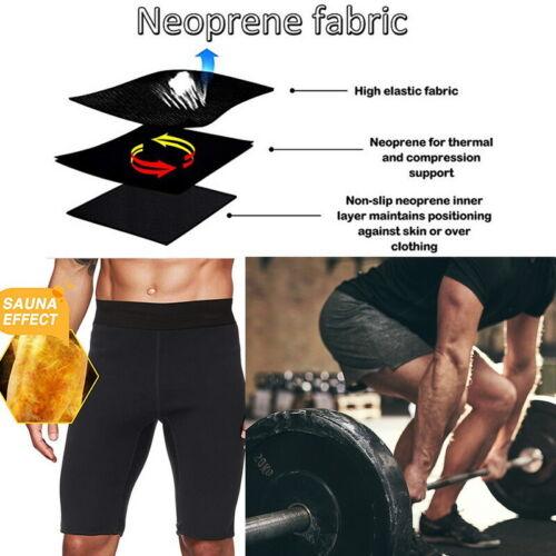Herren Thermo Neopren Sweat Sauna Body Shaper Hosen Gewichtsverlust Hose KUS new