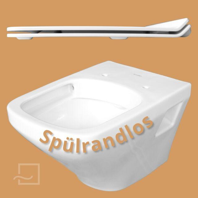 Duravit Durastyle Wandtiefspül WC rimless spülrandlos Wonder Gliss 25380900001