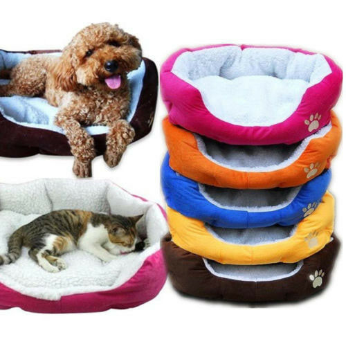 Pet Cat Dog Comfort Soft Bed Puppy Fleece Plush House Nest Sleep Warm Mat Pad [