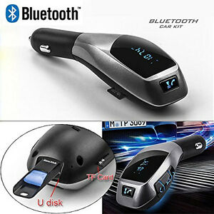 X5 Shift Gear Knob Style Car kit Wireless Bluetooth FM Transmitter Radio Adapter
