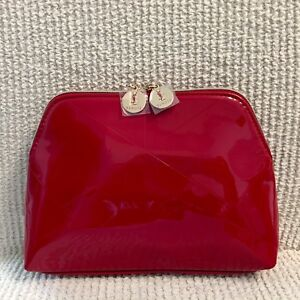 bc05c9ecaf62 Image is loading YSL-Deluxe-Red-Patent-Cosmetic-Makeup-Bag-Pouch-