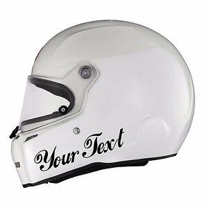 X CUSTOM VINYL DECAL Sticker Car Kart Helmet Race CHOOSE COLOUR - Custom vinyl stickers for helmets