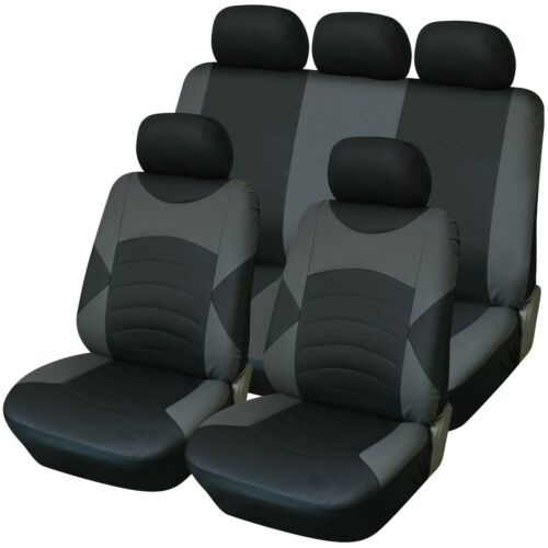 Premium Black /& Red Touring Synthetic Leather Look Car 4x4 MPV Seat Covers Set