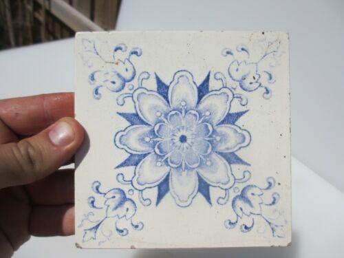 Antique Ceramic Tile Vintage Floral Flower Art Nouveau Flowers Floral Old