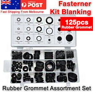 125-Pc-Rubber-Grommet-Assortment-Set-Fastener-Kit-Blanking-18-Popular-Sizes