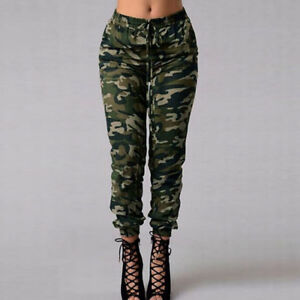575297d4ec67f Details about Sexy Women Camo Cargo Trousers Casual Pants Military Army  Camouflage New W9E6