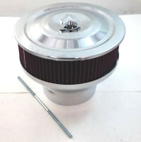Chrome 9 X 7 Velocity Stack Air Cleaner W/ Washable Element Chevy Ford Mopar