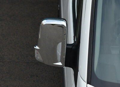 EnergéTico Chrome Wing Mirror Trim Set Covers To Fit Volkswagen Crafter (2006-16) Refrescante Y Enriquecedor De La Saliva