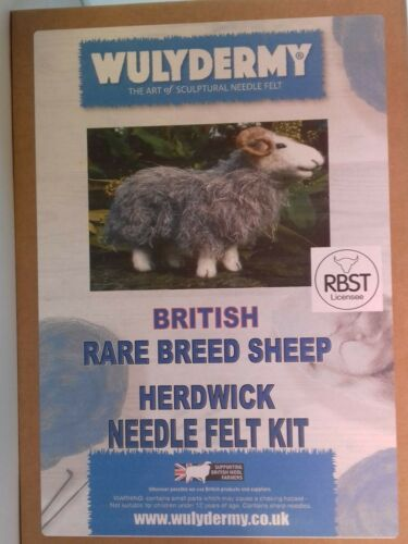 Herdwick British Rare Breeds sheep  needle felt kit British Wool