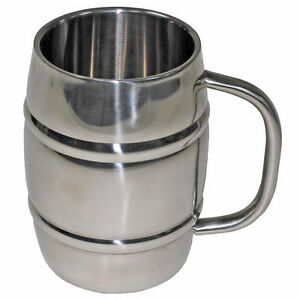 Edelstahl Bierkrug 1 Liter Bierfass 1000 Ml Thermobecher
