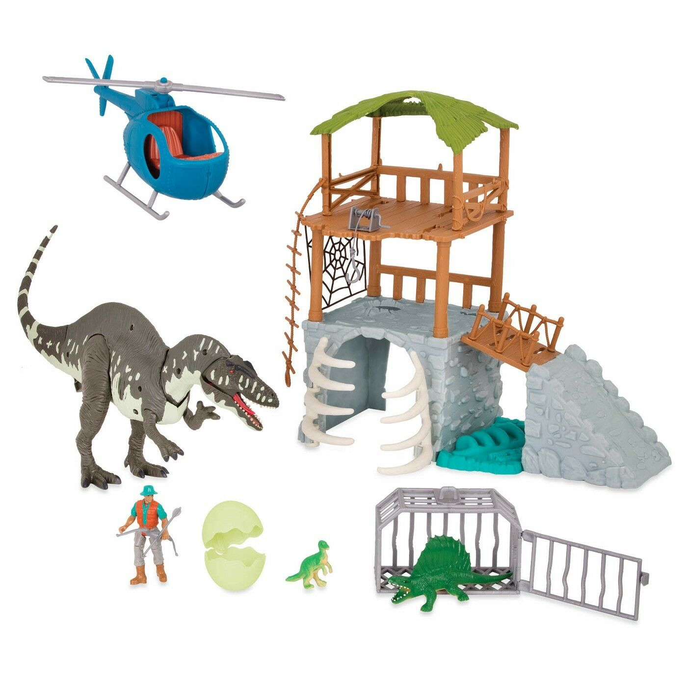 TERRA Jungle Expedition Dino Electronic Dino Playset Light Sound NEW DAMAGED BOX